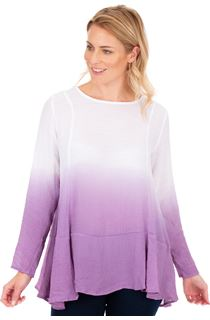 Long Sleeve Ombre Tunic - Multi