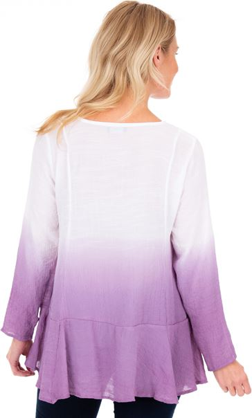 Long Sleeve Ombre Tunic Multi - Gallery Image 2