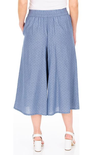 Pull On Culottes Blue - Gallery Image 2