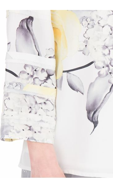 Anna Rose Floral Print Long Sleeve Top Ivory/Soft Yellow - Gallery Image 3