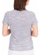 Anna Rose Textured Short Sleeve Top Grey - Gallery Image 3