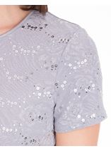 Anna Rose Textured Short Sleeve Top Grey - Gallery Image 4