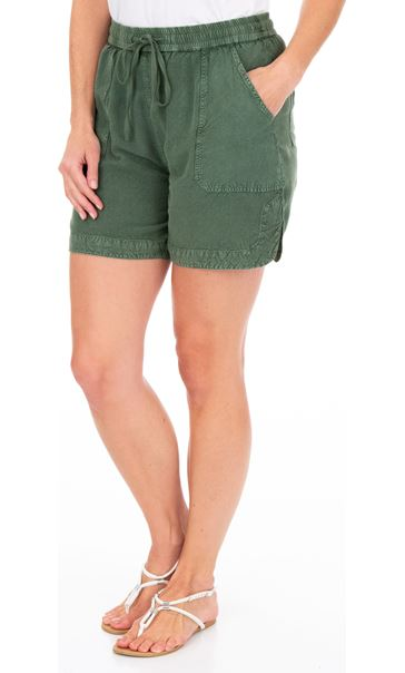 Pull On Shorts Khaki