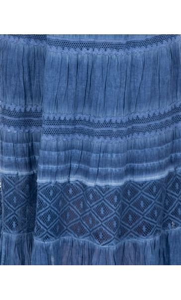 Anna Rose Lace Panel Midi Skirt Blue - Gallery Image 4