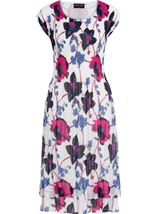 Anna Rose Floral Print Layered Midi Dress Multi - Gallery Image 3