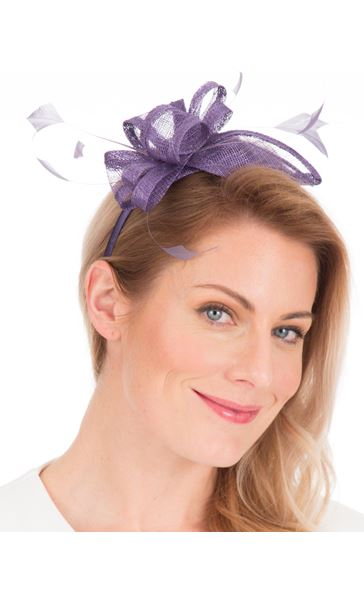 Sinamay Headband Fascinator Lilac