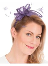 Sinamay Headband Fascinator Lilac - Gallery Image 1