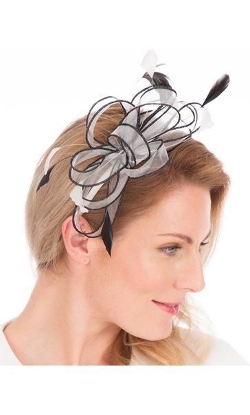 Orangza Headband Fascinator Ivory/Black