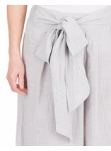Striped Cotton Pull On Culottes Grey/White - Gallery Image 3