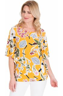 Floral printed Short Sleeve Jersey Top