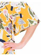 Floral printed Short Sleeve Jersey Top Mustard - Gallery Image 3
