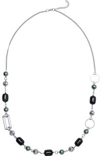 Beaded Chain Long Necklace