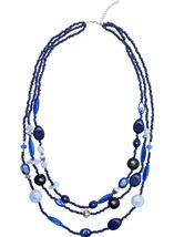 Multi Layered Mixed Bead Necklace