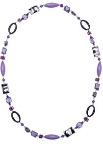 Mixed Beaded Necklace - Lilac