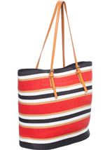 Multi Striped Beach Bag