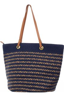 Thin Striped Beach Bag