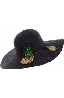 Pineapple Motif Floppy Hat