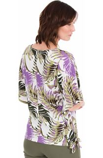 Printed Loose Fitting Stretch Top