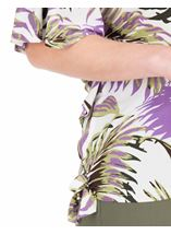Printed Loose Fitting Stretch Top Lilac/Khaki - Gallery Image 3