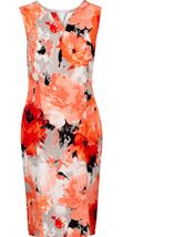 Anna Rose Printed Shift Dress Ivory/Coral - Gallery Image 1