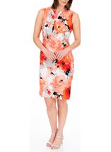 Anna Rose Printed Shift Dress Ivory/Coral - Gallery Image 2