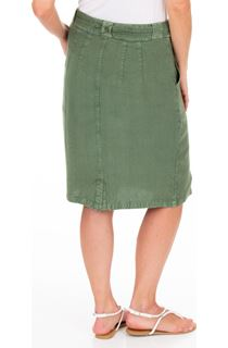 Washed Self Tie Pencil Skirt