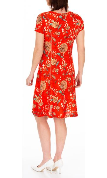 Anna Rose Floral Textured Jersey Dress