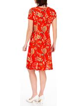 Anna Rose Floral Textured Jersey Dress Red Multi - Gallery Image 2