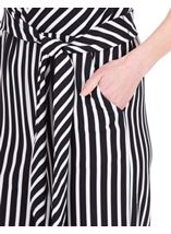 Sleeveless Striped Wide Leg Jumpsuit Black/Ivory - Gallery Image 3