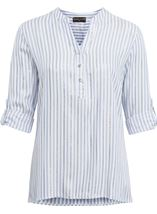 Anna Rose Stripe Shimmer Top White/Blue - Gallery Image 1