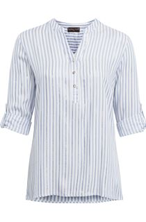 Anna Rose Stripe Shimmer Top