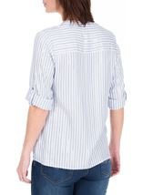 Anna Rose Stripe Shimmer Top White/Blue - Gallery Image 3