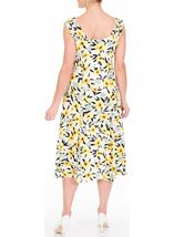 Anna Rose Cowl Neck Floral Print Midi Dress Black/White/Lemon - Gallery Image 3