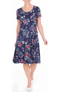 Anna Rose Floral Printed Jersey Dress