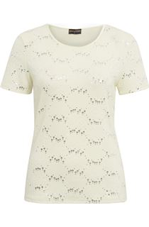 Anna Rose Textured Short Sleeve Top - Soft Yellow
