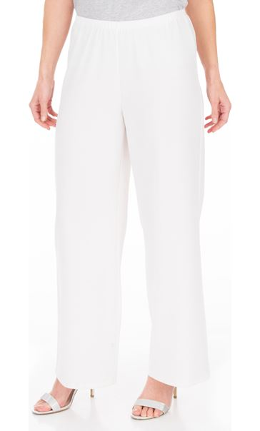 Anna Rose Wide Leg Trousers - Ivory