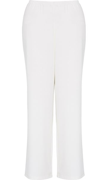 Anna Rose Wide Leg Trousers Ivory - Gallery Image 3