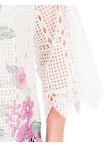 Anna Rose Printed Lace Front Top White/Lilac - Gallery Image 4