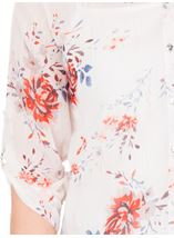 Anna Rose Floral Print Blouse Ivory/Red/Multi - Gallery Image 4