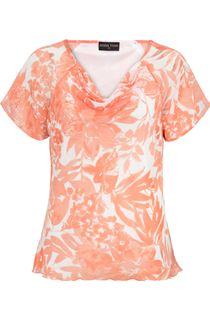 Anna Rose Bias Cut Printed Chiffon Top