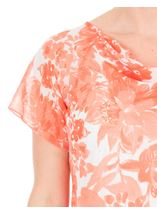 Anna Rose Bias Cut Printed Chiffon Top Coral/Multi - Gallery Image 4