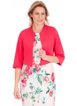 Open Cropped Scuba Jacket Pink - Gallery Image 1