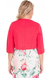 Open Cropped Scuba Jacket - Pink