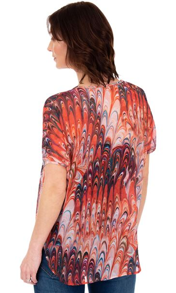 Embellished Print Georgette Top