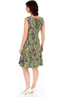 Printed Panelled Jersey Short Sleeve Dress