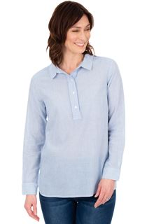 Striped Long Sleeve Cotton Top
