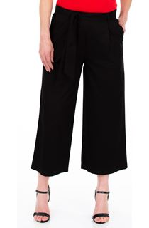 Wide leg Cropped Cotton Trousers