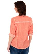 Washed Turn Sleeve Blouse Papaya - Gallery Image 2