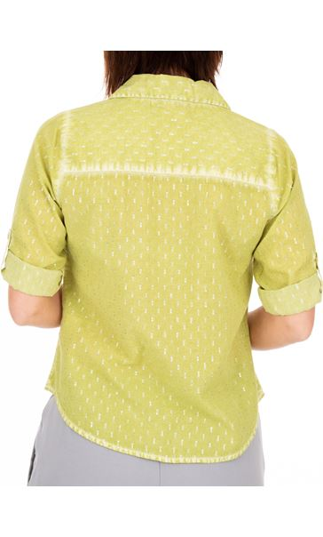 Anna Rose Shimmer Washed Shirt Lime - Gallery Image 2