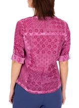 Anna Rose Printed Cotton Blouse Magenta - Gallery Image 2